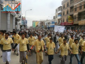 مسيرة حاشدة بصنعاء تطالب بإسقاط رموز الفساد وتأييدا للجيش في حربه ضد القاعدة (19)