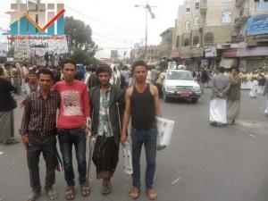 مسيرة حاشدة بصنعاء تطالب بإسقاط رموز الفساد وتأييدا للجيش في حربه ضد القاعدة (2)