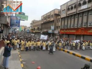 مسيرة حاشدة بصنعاء تطالب بإسقاط رموز الفساد وتأييدا للجيش في حربه ضد القاعدة (20)