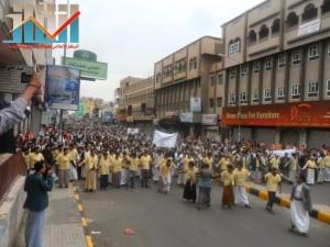 مسيرة حاشدة بصنعاء تطالب بإسقاط رموز الفساد وتأييدا للجيش في حربه ضد القاعدة (21)