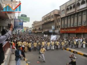 مسيرة حاشدة بصنعاء تطالب بإسقاط رموز الفساد وتأييدا للجيش في حربه ضد القاعدة (23)