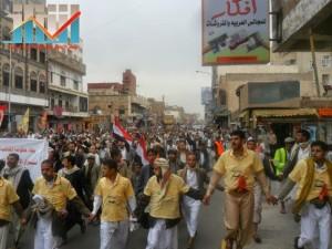 مسيرة حاشدة بصنعاء تطالب بإسقاط رموز الفساد وتأييدا للجيش في حربه ضد القاعدة (32)
