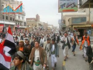 مسيرة حاشدة بصنعاء تطالب بإسقاط رموز الفساد وتأييدا للجيش في حربه ضد القاعدة (33)