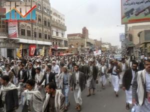 مسيرة حاشدة بصنعاء تطالب بإسقاط رموز الفساد وتأييدا للجيش في حربه ضد القاعدة (38)