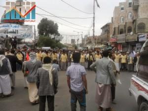 مسيرة حاشدة بصنعاء تطالب بإسقاط رموز الفساد وتأييدا للجيش في حربه ضد القاعدة (4)