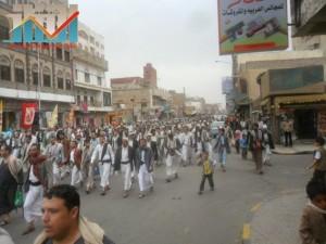 مسيرة حاشدة بصنعاء تطالب بإسقاط رموز الفساد وتأييدا للجيش في حربه ضد القاعدة (41)