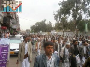 مسيرة حاشدة بصنعاء تطالب بإسقاط رموز الفساد وتأييدا للجيش في حربه ضد القاعدة (43)