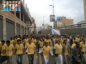 مسيرة حاشدة بصنعاء تطالب بإسقاط رموز الفساد وتأييدا للجيش في حربه ضد القاعدة (48)