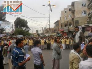 مسيرة حاشدة بصنعاء تطالب بإسقاط رموز الفساد وتأييدا للجيش في حربه ضد القاعدة (5)