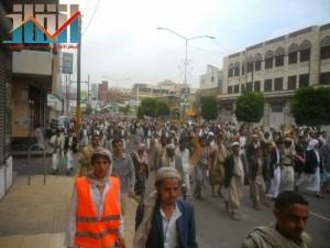 مسيرة حاشدة بصنعاء تطالب بإسقاط رموز الفساد وتأييدا للجيش في حربه ضد القاعدة (54)