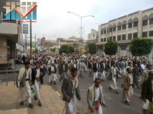 مسيرة حاشدة بصنعاء تطالب بإسقاط رموز الفساد وتأييدا للجيش في حربه ضد القاعدة (55)