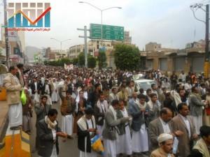 مسيرة حاشدة بصنعاء تطالب بإسقاط رموز الفساد وتأييدا للجيش في حربه ضد القاعدة (57)