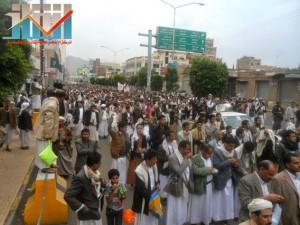 مسيرة حاشدة بصنعاء تطالب بإسقاط رموز الفساد وتأييدا للجيش في حربه ضد القاعدة (58)