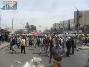 مسيرة حاشدة في العاصمة صنعاء تتجه صوب وزارة النفط للتنديد بأزمة المشتقات النفطية و رفض رفع الدعم عنها و المطالبة بإسقاط الحكومة (2)