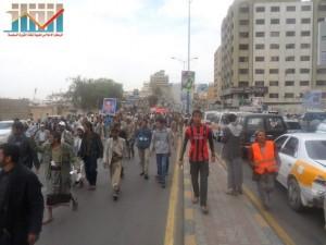 مسيرة حاشدة في العاصمة صنعاء تتجه صوب وزارة النفط للتنديد بأزمة المشتقات النفطية و رفض رفع الدعم عنها و المطالبة بإسقاط الحكومة (40)
