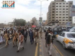 مسيرة حاشدة في العاصمة صنعاء تتجه صوب وزارة النفط للتنديد بأزمة المشتقات النفطية و رفض رفع الدعم عنها و المطالبة بإسقاط الحكومة (41)