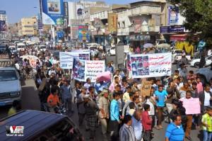 تعز تنتفض في مسيرة تضامنية منددة بمجازر الجيش في الضالع (12)