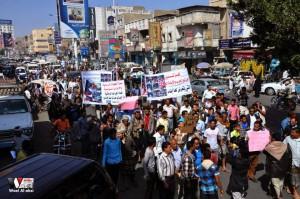 تعز تنتفض في مسيرة تضامنية منددة بمجازر الجيش في الضالع (17)