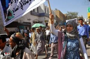 تعز تنتفض في مسيرة تضامنية منددة بمجازر الجيش في الضالع (20)