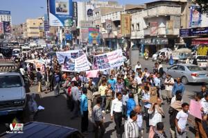 تعز تنتفض في مسيرة تضامنية منددة بمجازر الجيش في الضالع (26)