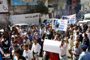 تعز تنتفض في مسيرة تضامنية منددة بمجازر الجيش في الضالع (7)