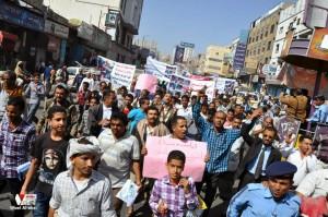 تعز تنتفض في مسيرة تضامنية منددة بمجازر الجيش في الضالع (9)