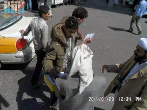 تفاعل كبير من المواطنين مع حملة 11 فبراير بصنعاء (10)