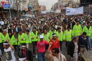 حملة 11 فبراير تخرج مسيرة حاشدة من ساحة التغيير بصنعاء تطالب باقالة و حاسبة حكومة الوفاق (101)