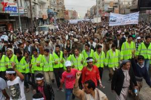حملة 11 فبراير تخرج مسيرة حاشدة من ساحة التغيير بصنعاء تطالب باقالة و حاسبة حكومة الوفاق (102)