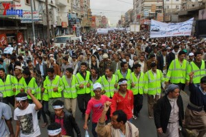 حملة 11 فبراير تخرج مسيرة حاشدة من ساحة التغيير بصنعاء تطالب باقالة و حاسبة حكومة الوفاق (104)
