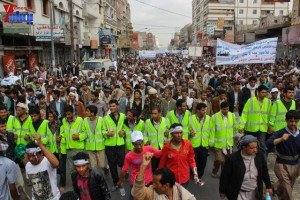 حملة 11 فبراير تخرج مسيرة حاشدة من ساحة التغيير بصنعاء تطالب باقالة و حاسبة حكومة الوفاق (106)