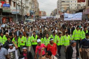 حملة 11 فبراير تخرج مسيرة حاشدة من ساحة التغيير بصنعاء تطالب باقالة و حاسبة حكومة الوفاق (107)