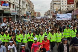 حملة 11 فبراير تخرج مسيرة حاشدة من ساحة التغيير بصنعاء تطالب باقالة و حاسبة حكومة الوفاق (108)