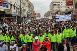 حملة 11 فبراير تخرج مسيرة حاشدة من ساحة التغيير بصنعاء تطالب باقالة و حاسبة حكومة الوفاق (109)
