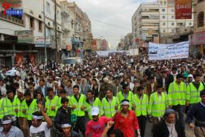 حملة 11 فبراير تخرج مسيرة حاشدة من ساحة التغيير بصنعاء تطالب باقالة و حاسبة حكومة الوفاق (110)