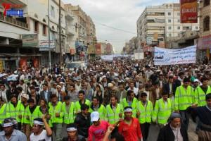 حملة 11 فبراير تخرج مسيرة حاشدة من ساحة التغيير بصنعاء تطالب باقالة و حاسبة حكومة الوفاق (111)