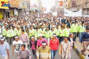حملة 11 فبراير تخرج مسيرة حاشدة من ساحة التغيير بصنعاء تطالب باقالة و حاسبة حكومة الوفاق (115)