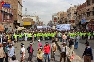 حملة 11 فبراير تخرج مسيرة حاشدة من ساحة التغيير بصنعاء تطالب باقالة و حاسبة حكومة الوفاق (118)