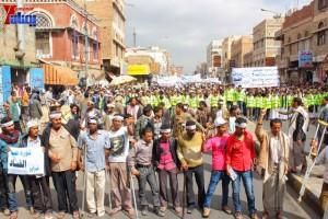 حملة 11 فبراير تخرج مسيرة حاشدة من ساحة التغيير بصنعاء تطالب باقالة و حاسبة حكومة الوفاق (120)