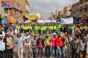 حملة 11 فبراير تخرج مسيرة حاشدة من ساحة التغيير بصنعاء تطالب باقالة و حاسبة حكومة الوفاق (129)