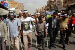 حملة 11 فبراير تخرج مسيرة حاشدة من ساحة التغيير بصنعاء تطالب باقالة و حاسبة حكومة الوفاق (131)