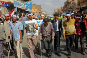 حملة 11 فبراير تخرج مسيرة حاشدة من ساحة التغيير بصنعاء تطالب باقالة و حاسبة حكومة الوفاق (132)