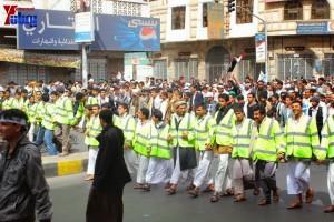 حملة 11 فبراير تخرج مسيرة حاشدة من ساحة التغيير بصنعاء تطالب باقالة و حاسبة حكومة الوفاق (138)