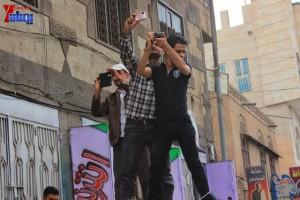 حملة 11 فبراير تخرج مسيرة حاشدة من ساحة التغيير بصنعاء تطالب باقالة و حاسبة حكومة الوفاق (139)