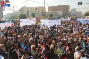 حملة 11 فبراير تخرج مسيرة حاشدة من ساحة التغيير بصنعاء تطالب باقالة و حاسبة حكومة الوفاق (14)