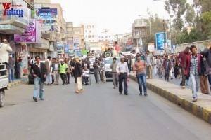 حملة 11 فبراير تخرج مسيرة حاشدة من ساحة التغيير بصنعاء تطالب باقالة و حاسبة حكومة الوفاق (141)