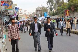 حملة 11 فبراير تخرج مسيرة حاشدة من ساحة التغيير بصنعاء تطالب باقالة و حاسبة حكومة الوفاق (142)