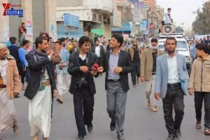 حملة 11 فبراير تخرج مسيرة حاشدة من ساحة التغيير بصنعاء تطالب باقالة و حاسبة حكومة الوفاق (143)
