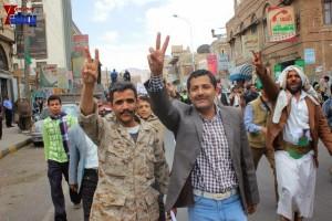 حملة 11 فبراير تخرج مسيرة حاشدة من ساحة التغيير بصنعاء تطالب باقالة و حاسبة حكومة الوفاق (147)