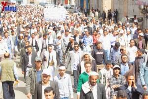 حملة 11 فبراير تخرج مسيرة حاشدة من ساحة التغيير بصنعاء تطالب باقالة و حاسبة حكومة الوفاق (160)